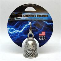 Lineman Biker Bell or Key Ring-Pewter