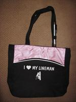 "Ladies ""I Love My Lineman"" Tote Bag"