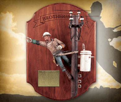 9f31403b The Linemans Factory | Power Lineman Wall Hanging Double Dead End Sculpture
