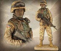 American Soldier: African American Male – Handpainted Sculpture