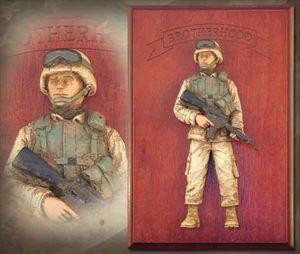 American Soldier: Brotherhood Edition – Handpainted Wall Sculpture