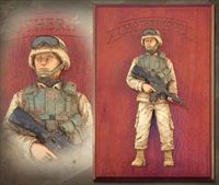 American Soldier: Brotherhood Edition – Handpainted Wall Sculpture