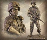 American Soldier: Female Bronzetone Sculpture