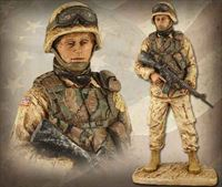 American Soldier: Female – Handpainted Sculpture