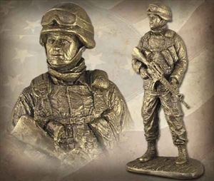 American Soldier: Male Bronzetone Sculpture