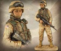 American Soldier: Male – Handpainted Sculpture
