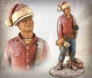Christmas Lineman Sculpture