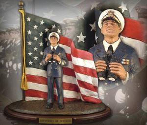 Defenders of Freedom: Naval Officer – Handpainted Sculpture
