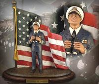 Defenders of Freedom: Naval Officer – Handpainted Sculpture