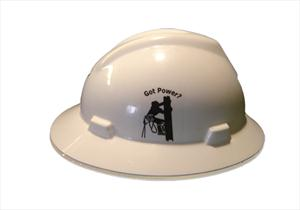 """Got Power"" Hard Hat Sticker"