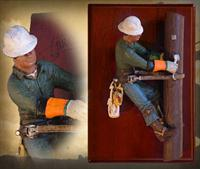 """High Wood Walker"" Brotherhood Wall Sculpture Hanging"