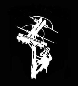 Man on Pole Window Decal