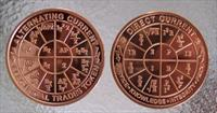 "AC/DC Ohm's Law Chart Coin- 2"" Copper"