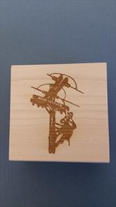 Power Lineman High Voltage Rubber Stamp