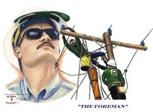 """The Foreman"" Framed Art Print"