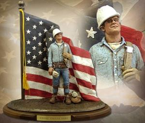 """Defenders of Freedom """"Where Eagles Dare"""" Hand Painted Sculpture"""